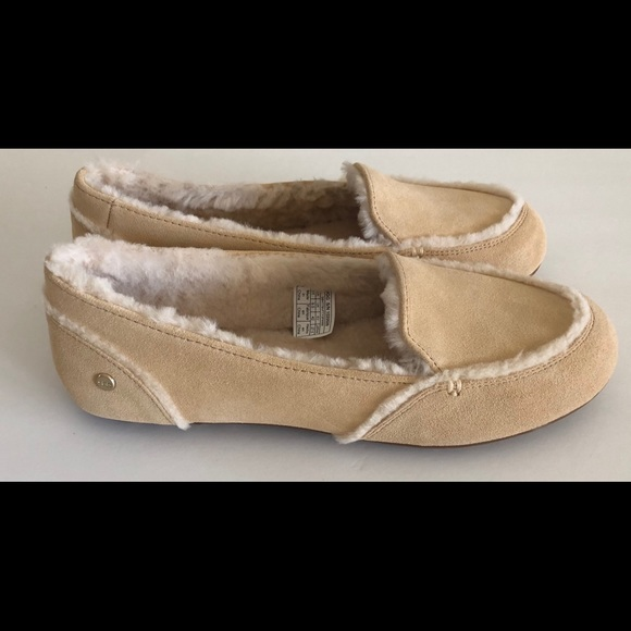 e392adf97cf UGG HAILEY SLIPPER MOCCASINS NEW IN BOX NUDE 11 NWT